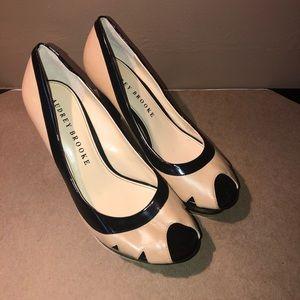 Audrey Brooke Peep Toe Heels Size 8M